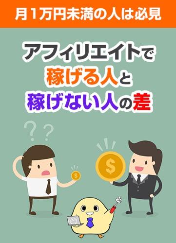 特典F【月1万円未満の人は必見】アフィリエイトで稼げる人と稼げない人の差とは?