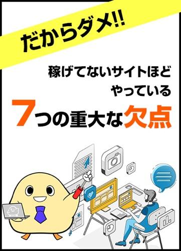 特典E【だからダメ!!】稼げてないサイトほどやっている7つの重大な欠点とは?
